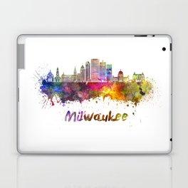 Milwaukee V2  skyline in watercolor Laptop & iPad Skin
