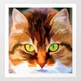 Cats face Art Print
