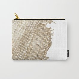 Hoboken New Jersey city map Carry-All Pouch
