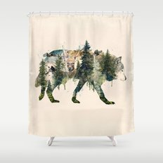 Wolf is the Pride of Nature Shower Curtain
