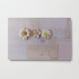 Vintage Garden, Flower photography Metal Print