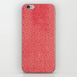 Modern black pink yellow watercolor chevron polka dots pattern iPhone Skin