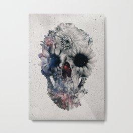 Floral Skull 2 Metal Print