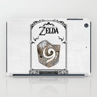 legend of zelda iPad Cases featuring Zelda legend - Kokiri shield by Art & Be