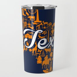 UTEP Texas Landmark State - Blue and Orange UTEP Theme Travel Mug