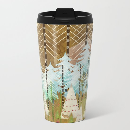 native summer Metal Travel Mug