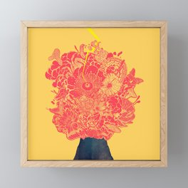 black volcano: the great eruption Framed Mini Art Print