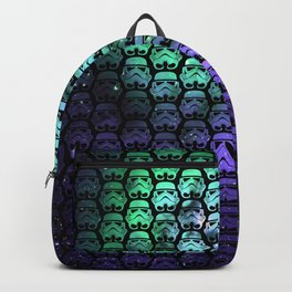 Troopers Green and Purple Stars Horizontal Backpack