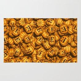 Halloween Pumpkins Pattern Rug