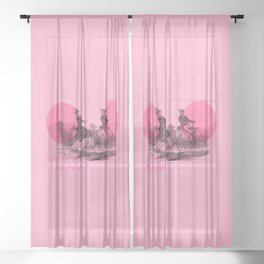 I LOVE MY BICYCLE Sheer Curtain