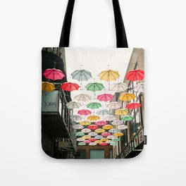 Ireland Dublin | Colorful street photography | Umbrella's Tote Bag