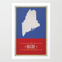 maine Art Prints featuring MAINE by Matthew Justin Rupp