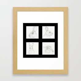 Rabbits 2 Framed Art Print