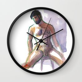 BRADLEY, Nude Male by Frank-Joseph Wall Clock
