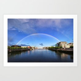 Double Rainbow over the Liffey Art Print