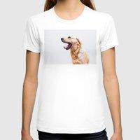 golden retriever T-shirts featuring Golden Retriever Dog Yawning by Limitless Design