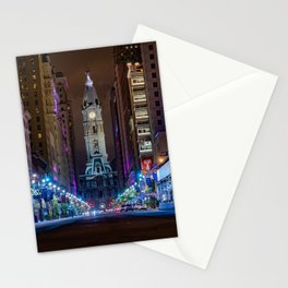 Philly City Hall from South Broad  Stationery Cards