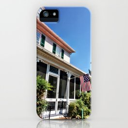 Yellow House on the Street iPhone Case