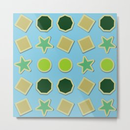 Shapes stickers Metal Print