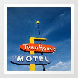 Town House Motel, Las Cruces NM Art Print