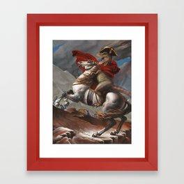 T. Rex Crossing the Alps Framed Art Print