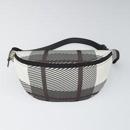 Plaid White And Brown Lumberjack Flannel Fanny Pack