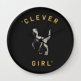 Clever Girl (Dark) Wall Clock