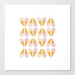 Ice Cream Cone Print Canvas Print