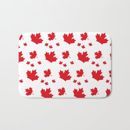 Canada Maple Leaf-Large-White Bath Mat
