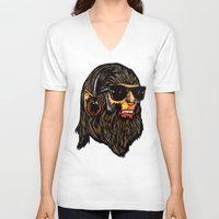 teen wolf V-neck T-shirts featuring Teen Wolf by Vasco Vicente