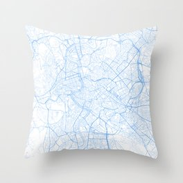 Rome. Blue Period Throw Pillow
