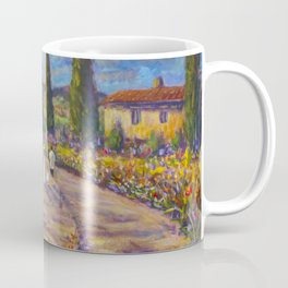 "Tuscany Painting on Canvas 37.8"" Landscape Painting Italy Country Art Impressionist Painting Tuscan Coffee Mug"