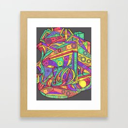 Face - Abstract Drawing Framed Art Print