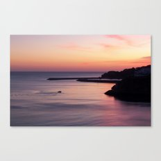 Sunset Albufeira Portugal Canvas Print