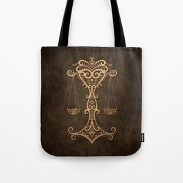 Vintage Rustic Libra Zodiac Sign Tote Bag