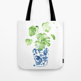 Ginger Jar + Monstera Tote Bag