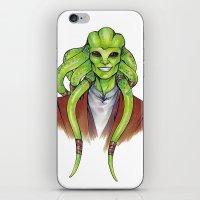 kit king iPhone & iPod Skins featuring Kit Fisto by lorna-ka