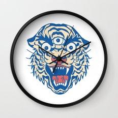 Third Eye Tiger Flash Wall Clock