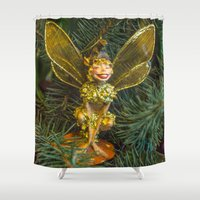 elf Shower Curtains featuring Winged elf by Svetlana Korneliuk