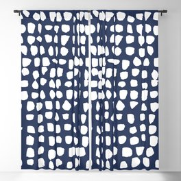 Dots / Navy Blackout Curtain