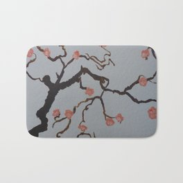 Japanese Cherry Blossoms Bath Mat