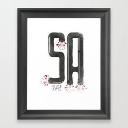 SALVAJEANIMAL headless IV Framed Art Print