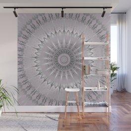 Mauve Silver Mandala Wall Mural