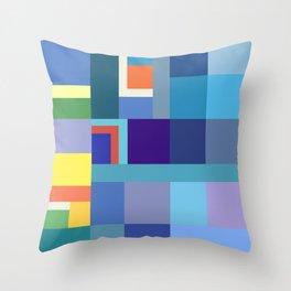Blue Checker Pattern Throw Pillow