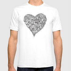 Hairy Heart  MEDIUM Mens Fitted Tee White