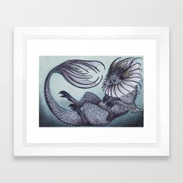 the Water Type Framed Art Print