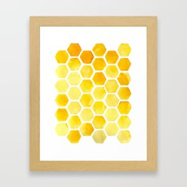 Watercolour Honeycomb Framed Art Print