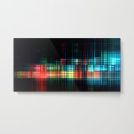Big Data Analytics Abstract Background Technology Concept Metal Print