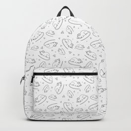 Background with animals. The mouse animal Backpack