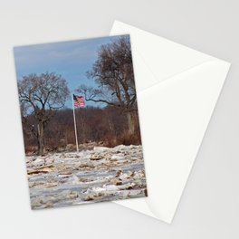 Old Glory on Ice Stationery Cards